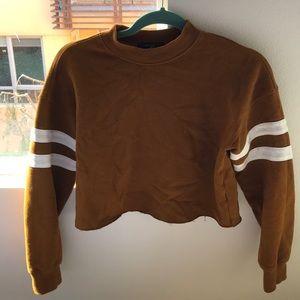 Vintage golden brown crop top sweater